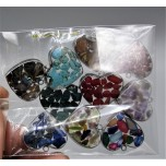 """Stainless Steel Heart Shape (15 mm or 5/8"""") Pendant with chips - 10 pieces Mix Pendant Pack"""