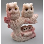 Extra Large Carving - Owl Family (4.5 x 4.5 inches - 2.5 inch H on Owl, 0.5 inch H on baby Owl)
