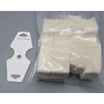 1.5 Inch x 2 Inch Necklace/Bracelet Display Card 100 pcs - White
