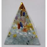 Pyramid with Gemstone - Aquamarine (2 x 2 x 2 inch)