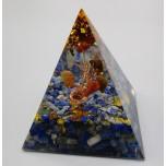 Pyramid with Gemstone - Lapis (2 x 2 x 2 inch)