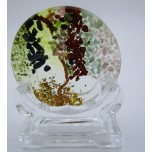 Tree of Life Plate (80 mm or 3 inch) - Chakra - with holding stand