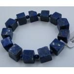 Gemstone Cube Bracelet - Lapis (10 x 10 mm or 3/8 x 3/8 inch)