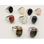Gemstone Rings (14 x 18 mm Stone size) - Assorted stones