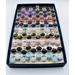 Gemstone Rings (14 x 18 mm Stone size) - Assorted 100 pcs Pack