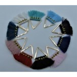 2.5 cm Tassel with triangle bail (10 pcs) - Assorted color