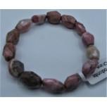 10-13 Gemstone Long Faceted Bracelet - Rhodonite