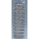 Flower Style 1 Rhinestone Faux Pearl Embellished Hair Clip  - 20 piece pack