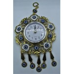 Eye Metal Pendant - Blue Eye with Clock (12 cm on Clock)