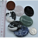Flat Stone - Worry Stone - Show Special Size - 5 pcs Pack Assorted