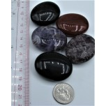 Flat Stone - Spheroid Shape - Show Special Size - 5 pcs Pack Assorted