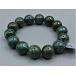 14 mm Gemstone Round Bead Bracelet - Chrysoccolla