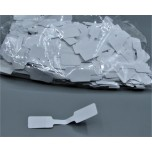 Rectangle Shape 20mm x 12mm Tag 1000 piece pack - White (with adhesive)