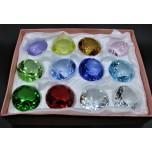 40 mm Crystal Diamond - Mix color 12 pcs Pack