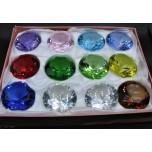 60 mm Crystal Diamond - Mix color 12 pcs Pack