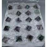 Gemstone Fluorite Pyramid Pack - 20 pcs Pack (1-1/8 Inch)