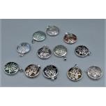 Hamsa Caged Gemstone Pendant - Assorted Stone Available