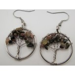 Tree of Life Gemstone Earrings- assorted stones available!