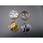 Tree of Life Gemstone Pendant- assorted stones and finishes available!