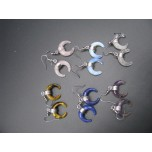 Lucky Horn Shaped Gemstone Earring- assorted stones available!