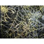 Designer Golden Web Organza Pouch 10 x 12 cm 12 piece pack