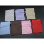 Economy Burlap Pouch Small 10cm x14cm 50pc pk 7 colors Available