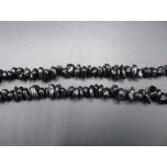 34-35 Inch Chip Necklace - Black Spinel