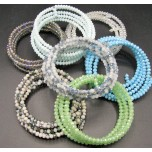 Memory Wire Bead Bracelet - Basic - Assorted Colors Available!