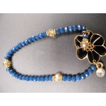 Crystal Bead with Flower Charm Bracelet - Assorted Colors Available!