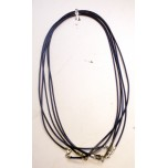 18 Inch 2mm Leather Cord with Sterling Silver Clasp 5pcs Pack - Blue