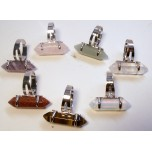 Bi-Point Gemstone Rings Silver Color Assorted Stones