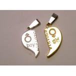 BFF Charms - Set of 2 - Boy/Girl Heart