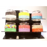 Crystal Elastic Bracelets 36pcs pack with Display Stand