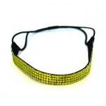 Quad Row Headband - Lime Green