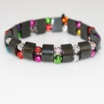 Magnetic Elastic Bracelets Rose Style Assorted Colors
