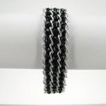 Crystal Snake Skin Bracelet - Black