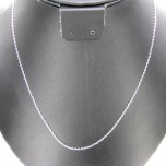 18 Inch 0.5mm Silver Plated Cable Chain
