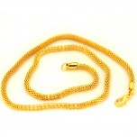18 Inch 3mm Mesh Chain with Lobster Clasp - Gold