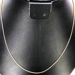 18 Inch 1.0mm Gold Plated Round Snake Chain