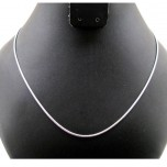 18 Inch 1.5 mm Round Snake Chain Rhodium Plated 10pcs Pack