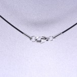 18 Inch Single Wire Choker with Stainless Steel Clasp - Black