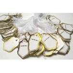 Bell Shape 25mm x 15mm  Tag 100 piece pack - Gold or Silver