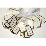 Rectangle Shape 22mm x 12mm Tag 100 piece pack - Gold or Silver