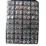 Stainless Steel Earrings Alphabet Style 10mm Packs of 36 pairs