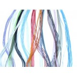 18 Inch Ribbon with 6 Strand Waxed Cotton Cord with 2 Inch ext 12 piece pack - Multi