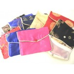Brocade Pouch with Snap and Zip 10X12cm 10 piece pack