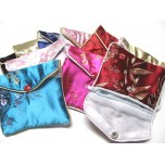 Brocade Pouch with Snap and Zip 9X10cm 10 piece pack