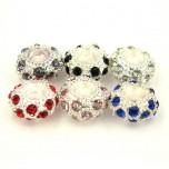 Large Hole Bead 6 Piece Packs - Mixed Rhinestone Beads