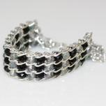 Crystal Snake Skin Bracelet - Black and Irridescent